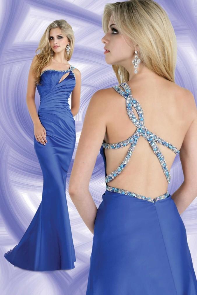 blue sexy prom dresses