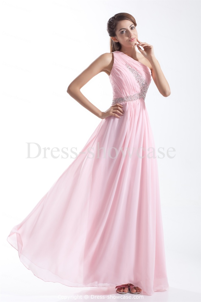Pink Floor Length Prom Dresses 2014