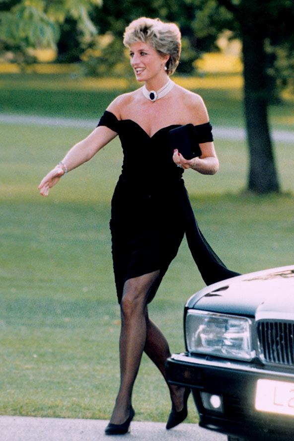 Princess Diana in black dress
