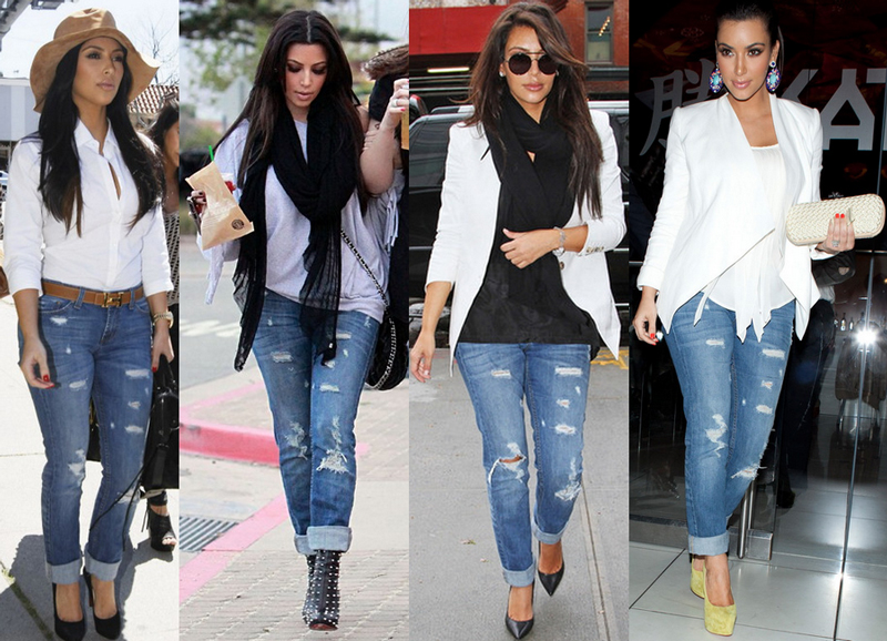 Kim Kardashian - Look Taller With Ripped Jeans And Pointed High Heels Party