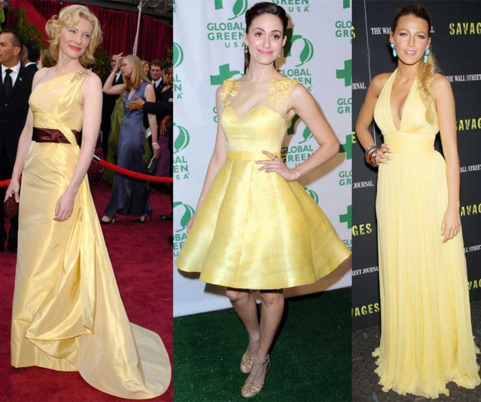 Celebrityies in yellow gowns 2