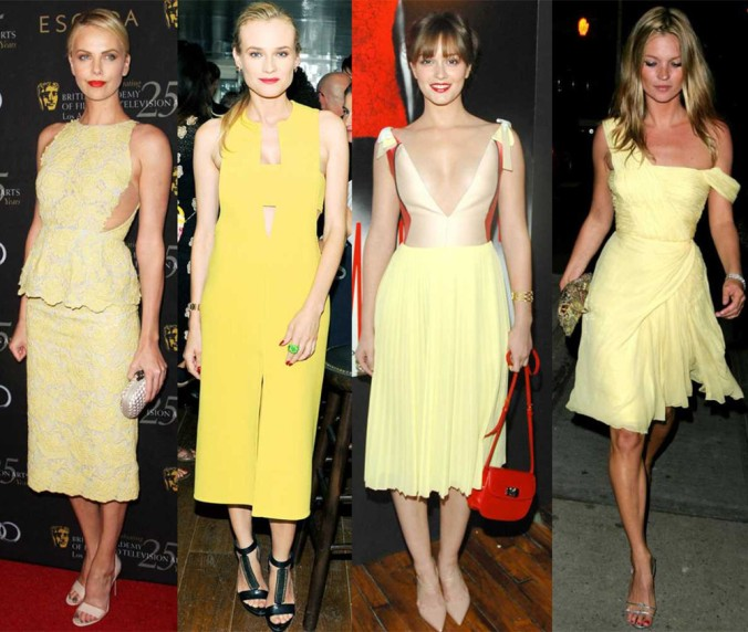 Celebrityies in yellow gowns 3