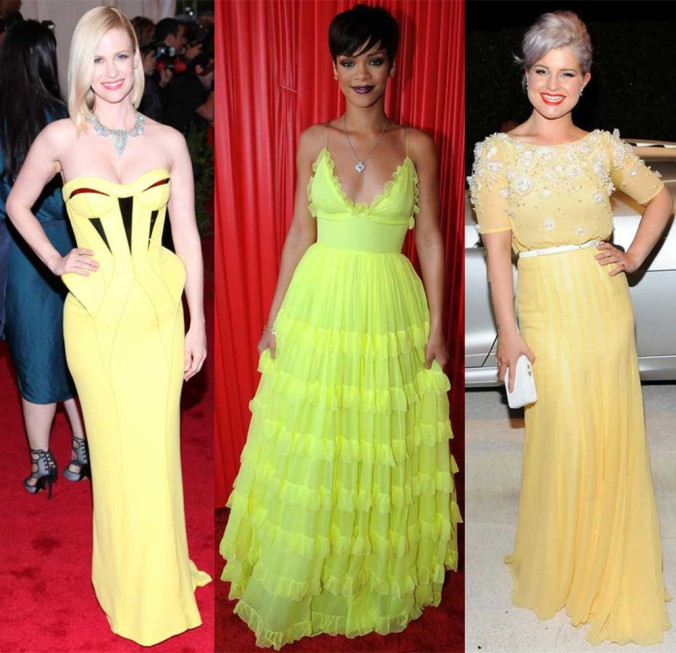 Celebrityies in yellow gowns 4