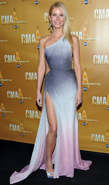 celebrity ombre dress