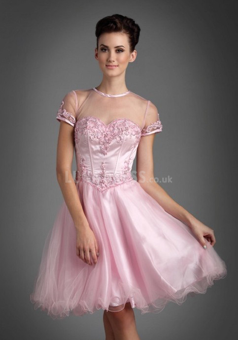 chic-princess-knee-length-jewel-natural-waist-short-sleeves-tulle-prom-dresses_1406203390
